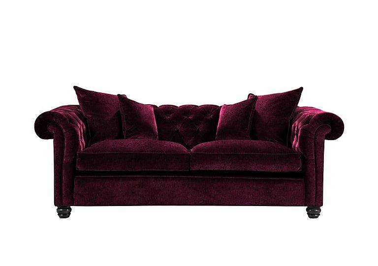 Curzon 2 Seater Fabric Sofa in Rembrandt Vel Alizarin Crimson on Furniture Village