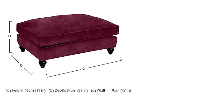 Curzon Fabric Footstool in  on Furniture Village
