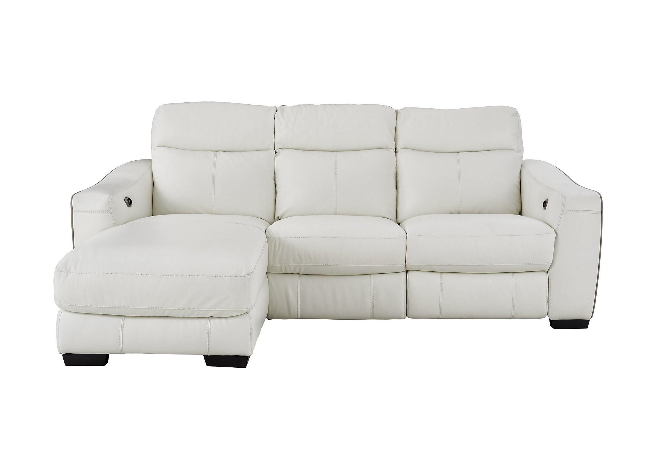 cressida leather recliner corner chaise sofa  furniture village - play