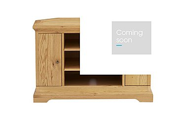 Compton Oak Corner TV Unit in Oak on FV