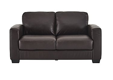 Dante 2.5 Seater Leather Sofa Bed in Jc-157e  Warm Brown on FV
