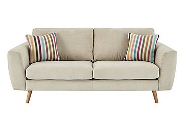 Jenson Large 2 Seater Fabric Sofa - Only One Left! in Grd-34 Bisque Graceland on Furniture Village