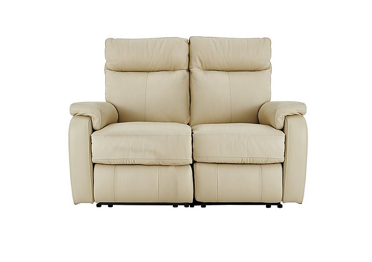 Jemima 2 Seater Leather Sofa - Only One Left! in Bv3550 Light Beige on FV