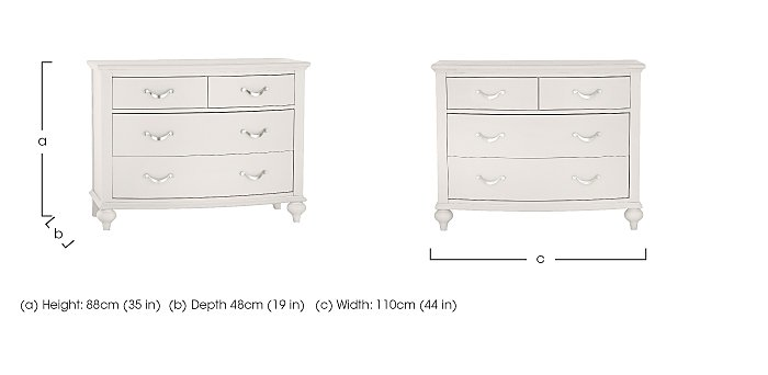 Annecy 2+2 Drawer Chest in  on FV