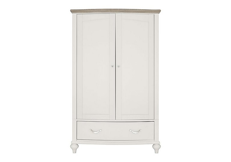 Annecy Double Wardrobe in Soft Grey And Grey Washed Oak on FV