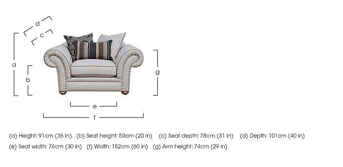 Langar Fabric Snuggler Chair in  on FV
