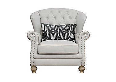 Langar Wing Chair in Merch Linen Cloud Light Feet on FV