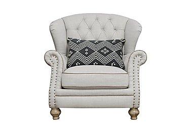 Langar Wing Chair in Merch Linen Cloud Light Feet on FV