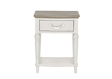 Annecy 1 Drawer Nightstand in Soft Grey And Grey Washed Oak on Furniture Village