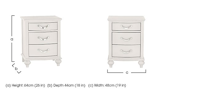 Annecy 3 Drawer Nightstand in  on Furniture Village