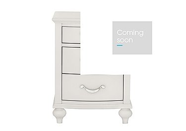 Annecy 3 Drawer Nightstand in Soft Grey on FV