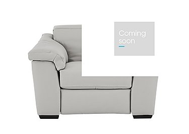 Sensor Leather Recliner Love Seat in Phoenix 15g3 Lgt Taupe Cs Whit on FV