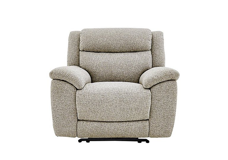 Bounce Fabric Recliner Armchair in Fab-Chl-R25 Chilli Biscuit on Furniture Village