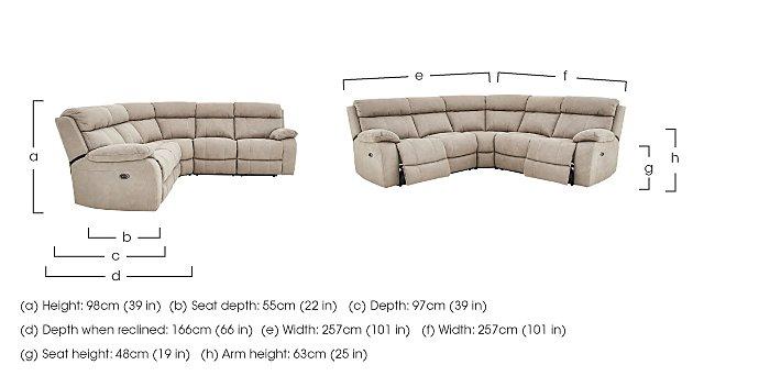 Moreno Fabric Recliner Corner Sofa in  on FV