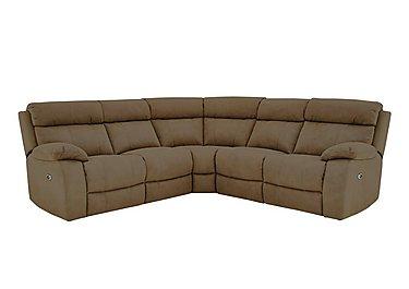 Moreno Fabric Recliner Corner Sofa in Bfa-Blj-Rt04 Tobacco on FV