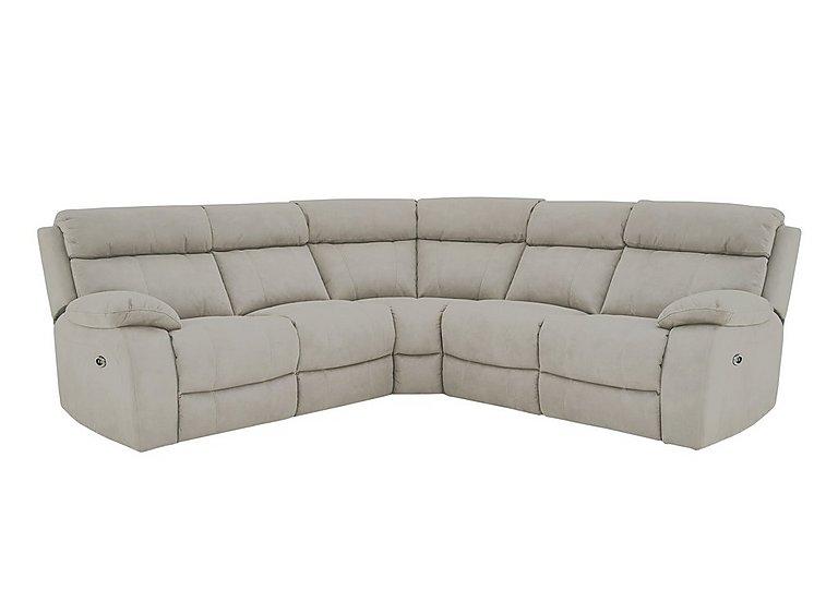 Moreno Fabric Recliner Corner Sofa in Bfa-Blj-Rt946 Silver Grey on FV