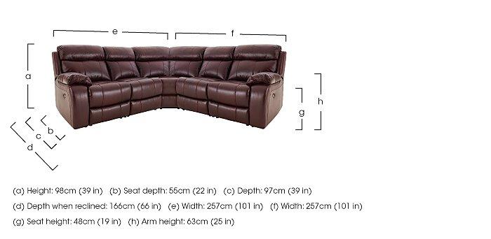 Moreno Leather Recliner Corner Sofa in  on Furniture Village