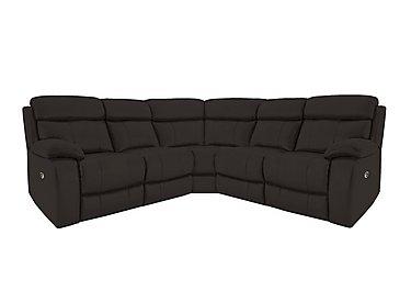 Moreno Leather Recliner Corner Sofa in Bv-1748 Dark Chocolate on Furniture Village