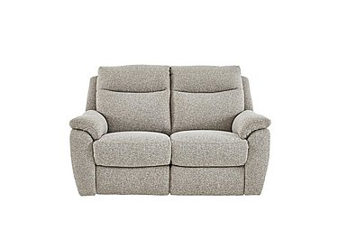 Snug 2 Seater Fabric Recliner Sofa in Fab-Chl-R25 Chilli Biscuit on FV