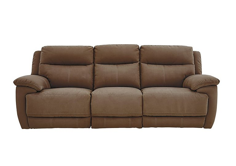 Touch 3 Seater Fabric Recliner Sofa