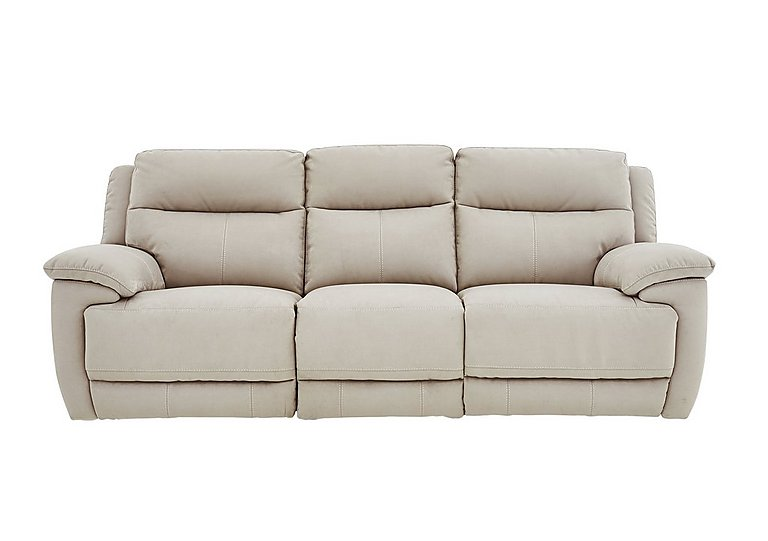 Touch 3 Seater Fabric Recliner Sofa in Bfa-Blj-Rt20 Bisque on FV