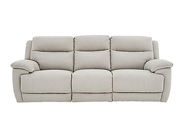 Touch 3 Seater Fabric Recliner Sofa in Bfa-Mad-R02 Silver Grey on FV