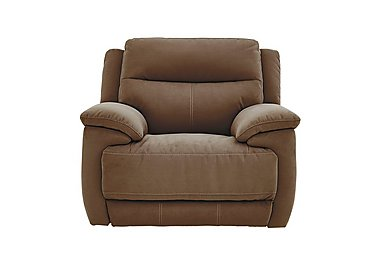 Touch Fabric Recliner Armchair in Bfa-Blj-Rt05 Hazelnut on FV