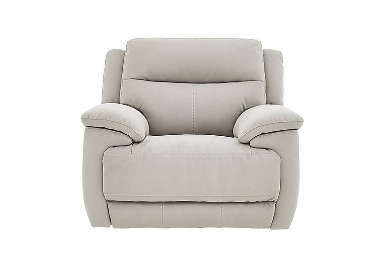 Touch Fabric Recliner Armchair in Bfa-Mad-R02 Silver Grey on Furniture Village