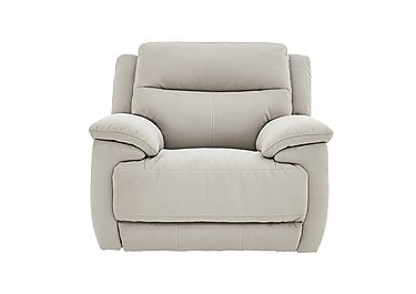 Touch Fabric Recliner Armchair in Bfa-Mad-R02 Silver Grey on FV