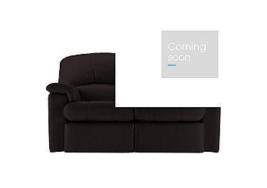 Chloe 2 Seater Leather Recliner Sofa in P200 Capri Chocolate on FV