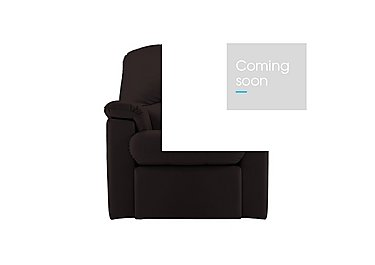 Chloe Small Leather Recliner Armchair in P200 Capri Chocolate on FV