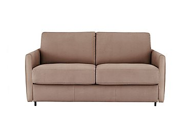 Alcova 2 Seater Fabric Sofa Bed with Slim Arms in Flambe 4310-25 Caffe on Furniture Village