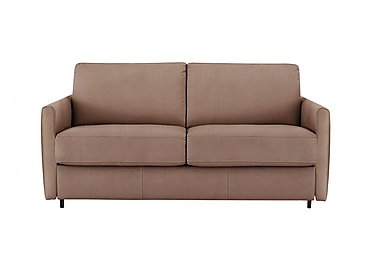 Alcova 2.5 Seater Fabric Sofa Bed with Slim Arms in Flambe 4310-25 Caffe on Furniture Village
