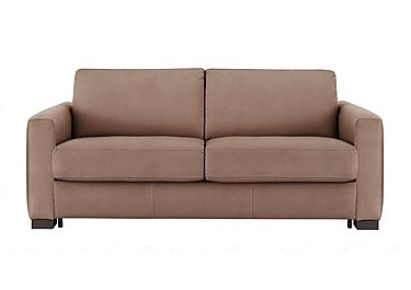 Alcova 3 Seater Fabric Sofa Bed with Box Arms in Flambe 4310-25 Caffe on FV