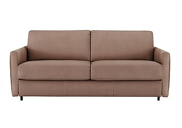 Alcova 3 Seater Fabric Sofa Bed with Slim Arms in Flambe 4310-25 Caffe on Furniture Village