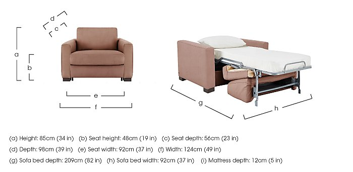 Alcova Single Fabric Sofa Bed with Box Arms in  on Furniture Village
