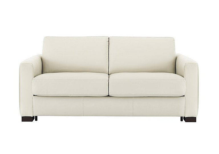Alcova 2.5 Seater Leather Sofa Bed with Box Arms