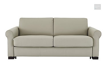 Alcova 2.5 Seater Leather Sofa Bed in 857 Tortora on FV