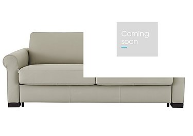 Alcova 3 Seater Leather Sofa Bed in 857 Tortora on FV
