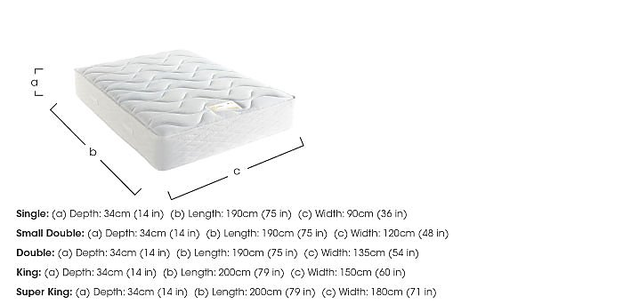 Supreme Memory Comfort 1400 Mattress in  on FV