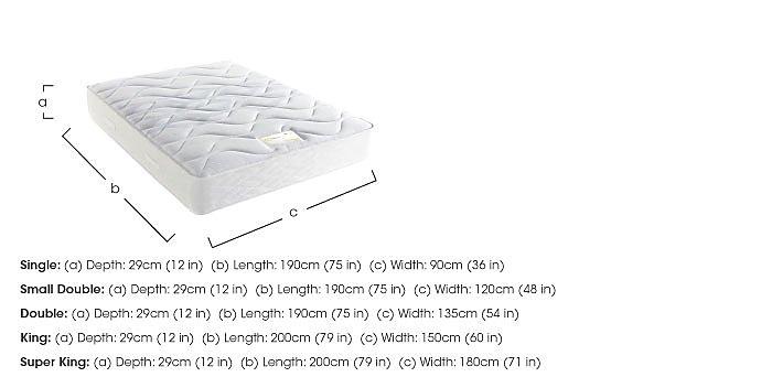 Supreme Comfort 1000 Mattress in  on FV