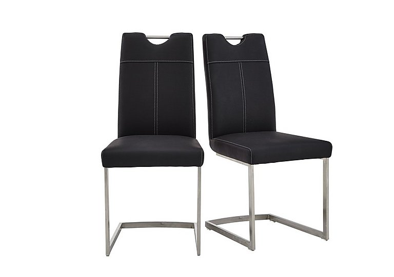 Panama Pair of Dining Chairs in Black on FV