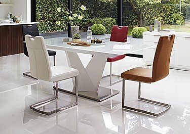 Panama White Dining Table and 4 Chairs in  on FV