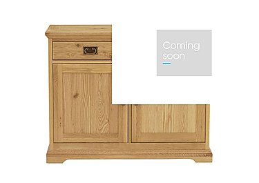 Compton Narrow Sideboard in Oak on FV