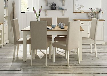 Compton Extending Table and 4 Upholstered Chairs in  on FV