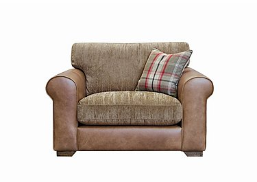 Highland Leather Snuggler Armchair in Byron Buckle Archie Mink Wo on FV