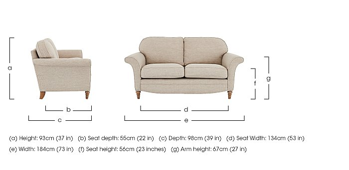 Diversity 2 Seater Fabric Sofa in  on FV