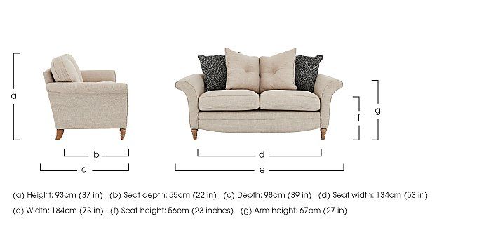 Diversity 2 Seater Fabric Pillow Back Sofa in  on Furniture Village
