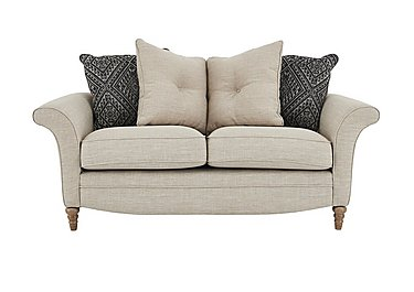 Diversity 2 Seater Fabric Pillow Back Sofa in Civic Stone Granite Lo on Furniture Village