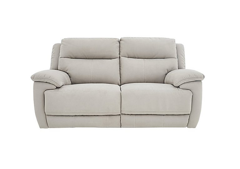 Touch 2 Seater Fabric Recliner Sofa in Bfa-Blj-Rt946 Silver Grey on FV